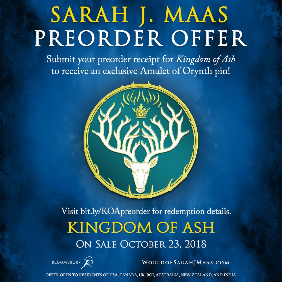 Giveaway Alert! Pre-Order Kingdom of Ash by Sarah J Maas! 10