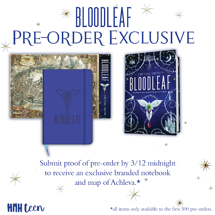 Giveaway: Bloodleaf by Crystal Smith! Ends 3/12 – The Crow